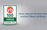 eScan establishes Global Standards with VB 100 Test