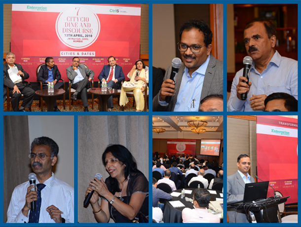 Mumbai CIOs converge to exchange opinion at CIO Dine and Discourse 2018