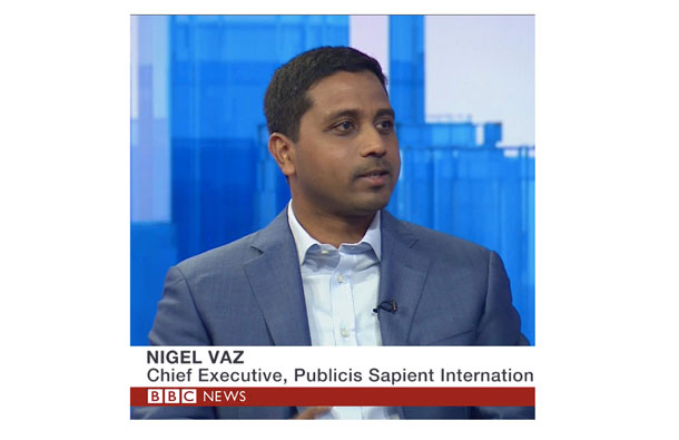 Publicis Sapient elevates Nigel Vaz as a global Chief Executive Officer