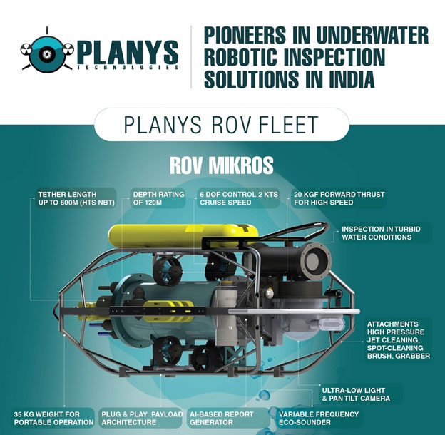 Planys launches next generation ROV Mikros developed indigenously for Downstream Oil and Gas and Process Industries