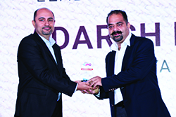 ADARSH KAUL, MARKETING LEAD, AVAYA INDIA RECEIVING ENTERPRISE IT CMO AWARD FROM BHARAT B ANAND , CIO, MINISTRY OF HOME AFFAIRS, GOVT. OF INDIA