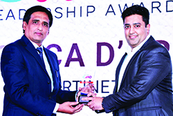 JESSICA D'CRUZ, HEAD MARKETING – INDIA & SAARC WINS EMERGING CMO AWARD 2017. THE AWARD HAS BEEN RECEIVED ON HER BEHALF FROM SANJIB MOHAPATRA, PUBLISHER, ACCENT INFO MEDIA.